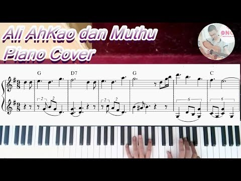 【Ali AhKao dan Muthu】- Namewee/Dato' David Arumugam/Aniq piano cover (Sheet music + lyrics)