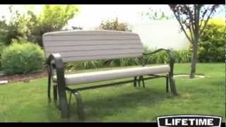 Lifetime Glider Bench - Simulated Polyethylene Furniture Review