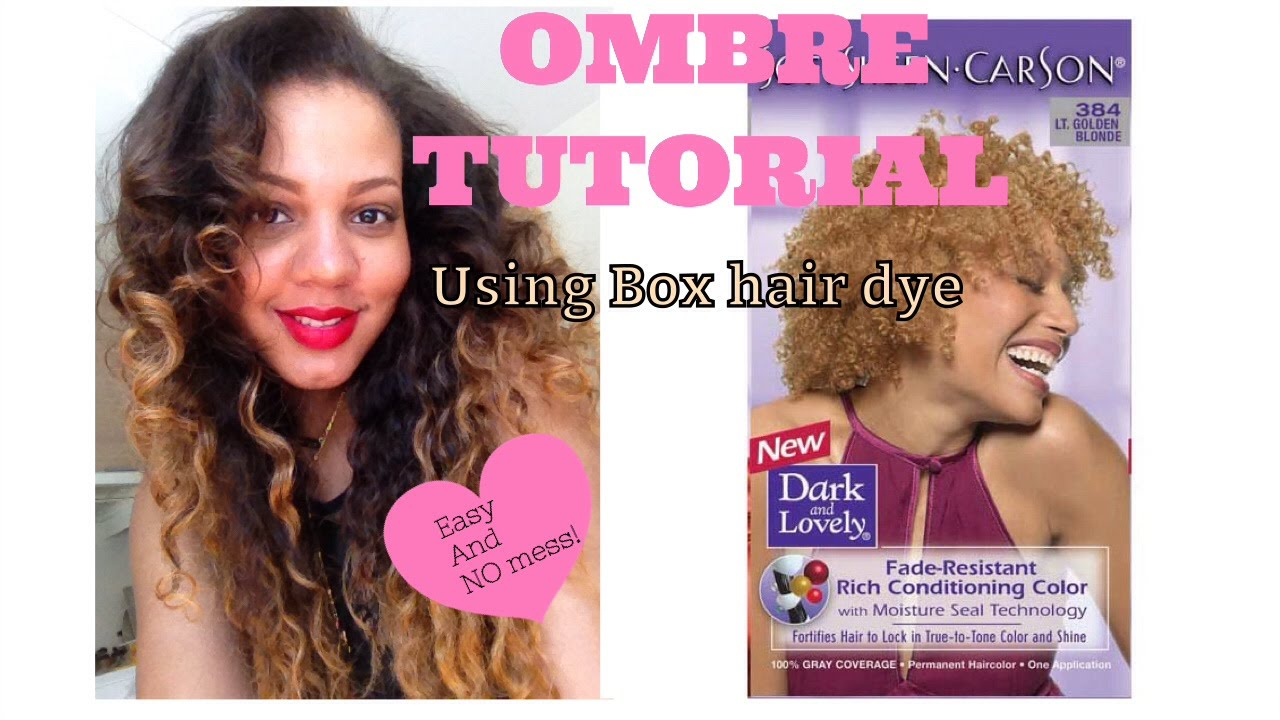 Ombre Tutorial Using Box Hair Dye How To Rescue Dry And Split Ends