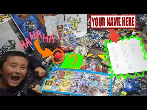 YOUR NAME ON OUR CHANNEL! EPIC Pokemon Cards & Toys From Fanmail!! New Giveaway! Friday Freeday #38!