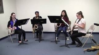 Saxophone Quartet - Gold Rush Suite : The Days Of '49