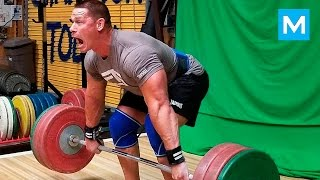 John Cena Set a New Deadlift Record (Workout) | Muscle Madness