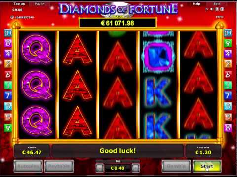Diamonds of Fortune Slot - Novomatic games with Jackpot