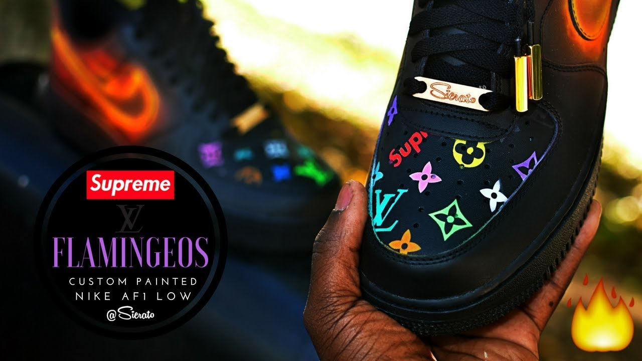 0b221c0b5f6ba Read more Sierato creating Fire Air Force Ones with Supreme LV for  Flamingeo | Can we get to 2K likes!?!?! SUSCRIBE: https://youtube.com/c/Sierato  | Follow ...