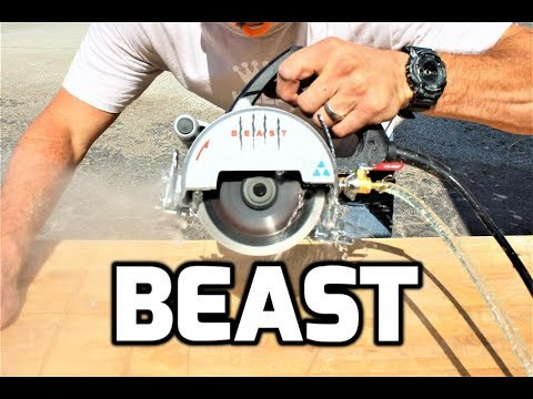 beast tile saw unboxing test review