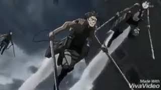 [Атака на титанов] клип: не бойся смотреть смерти в глаза