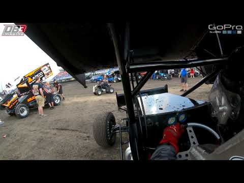 Ride along with Hunter Schuerenberg during his qualifying run at Jackson Motorplex with World Of Outlaws. #GoPro #GoProHero6. - dirt track racing video image