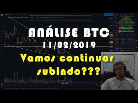 Análise Bitcoin - BTC - 11/02/2019 - Vamos continuar subindo???