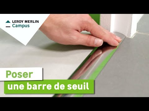Comment Poser Une Barre De Seuil Leroy Merlin Youtube