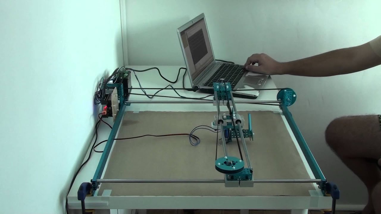 Xy plotter of makeblock control by keyboard youtube