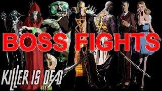 Killer is Dead: Nightmare Edition - ALL BOSS FIGHTS (PC/English/German/HD)