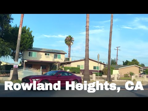 🔴  Rowland Heights Driving Tour 1080P