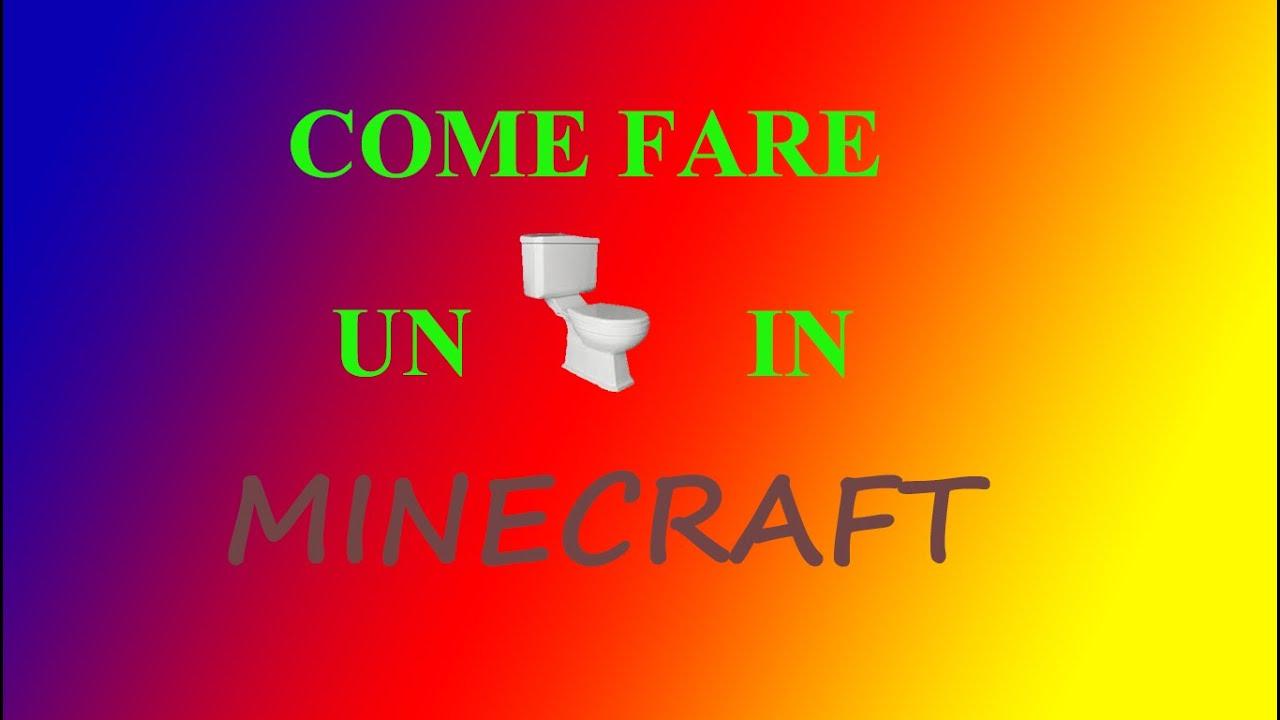 come fare un bagno in minecraft