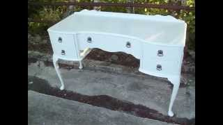 Vintage Painted Shabby Chic Dressing Table