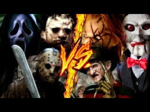 Freddy Vs Jason Vs Chucky Vs Michael Myers Vs Pinhead IT(PENNYWISE),G...