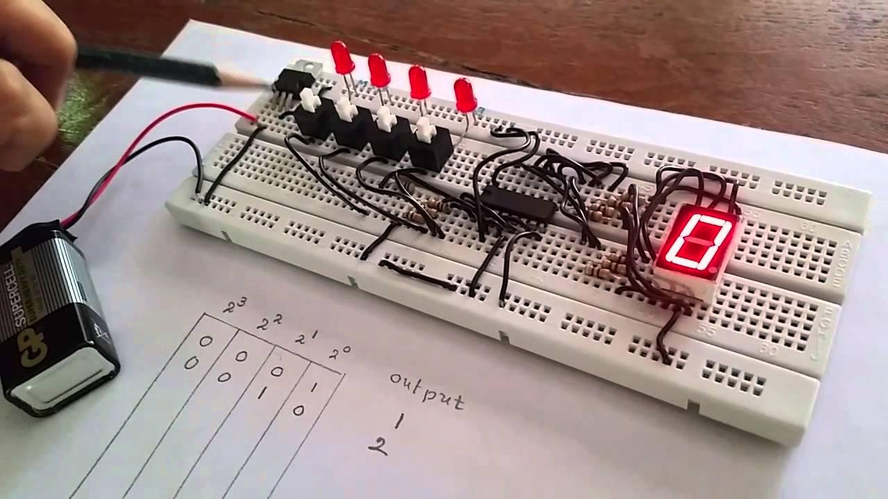 7 Segment Decoder Circuit Diagram