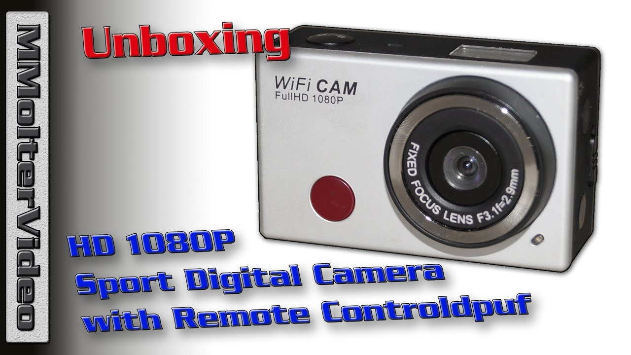 Sportscam Action Cam Wifi Unboxing Mmoltervideo Youtube Camera Sportcam Non Gopro