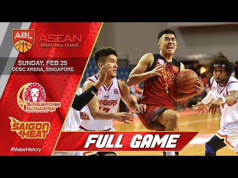 Singapore Slingers vs Saigon Heat | FULL GAME | 2017-2018 ASEAN Basketball League