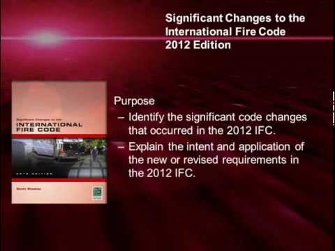 Significant Changes to the International Fire Code®, 2012 Edition