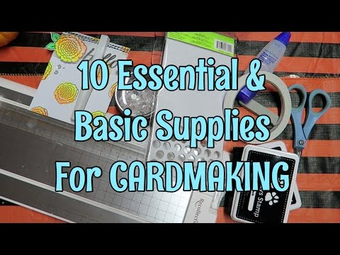 Card Basics // 10 Must-Have Cardmaking supplies / Beginner Cardmaking  | I'm A Cool Mom