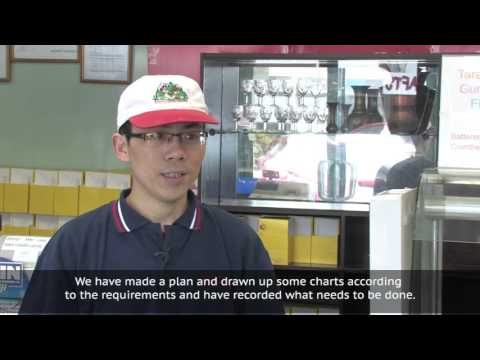 My experience of using a food control plan (Cantonese)