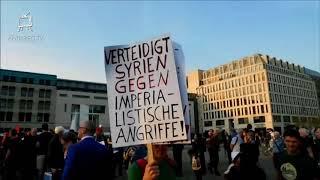 14.4.2018 Friedenskundgebung vor dem Brandenburger Tor in Berlin #Neinzumkrieg