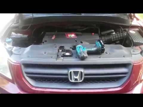 How to replace detonation knock sensor, where is it located? Honda Pilot  Odyssey Acura MDX