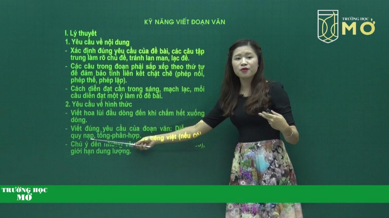 [LUYỆN THI VÀO LỚP 10 2017] Ngữ Văn: Kỹ năng viết đoạn văn| Cô Huyền An