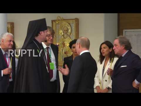 France: Putin visits new Russian spiritual and cultural centre in Paris