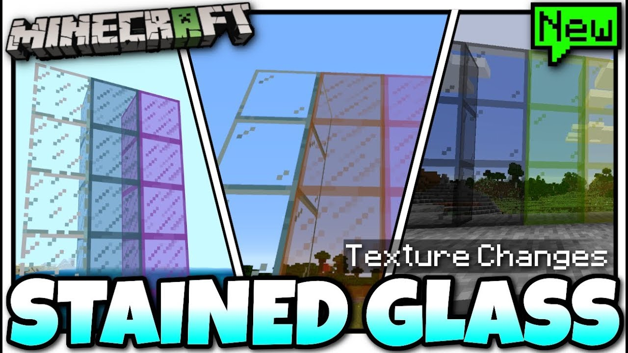 Minecraft New Stained Glass Texture Changes Soon Java Bedrock Console Youtube