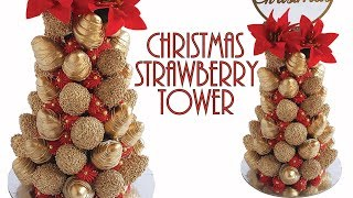 PRETTY Christmas Strawberry TOWER- Rosie