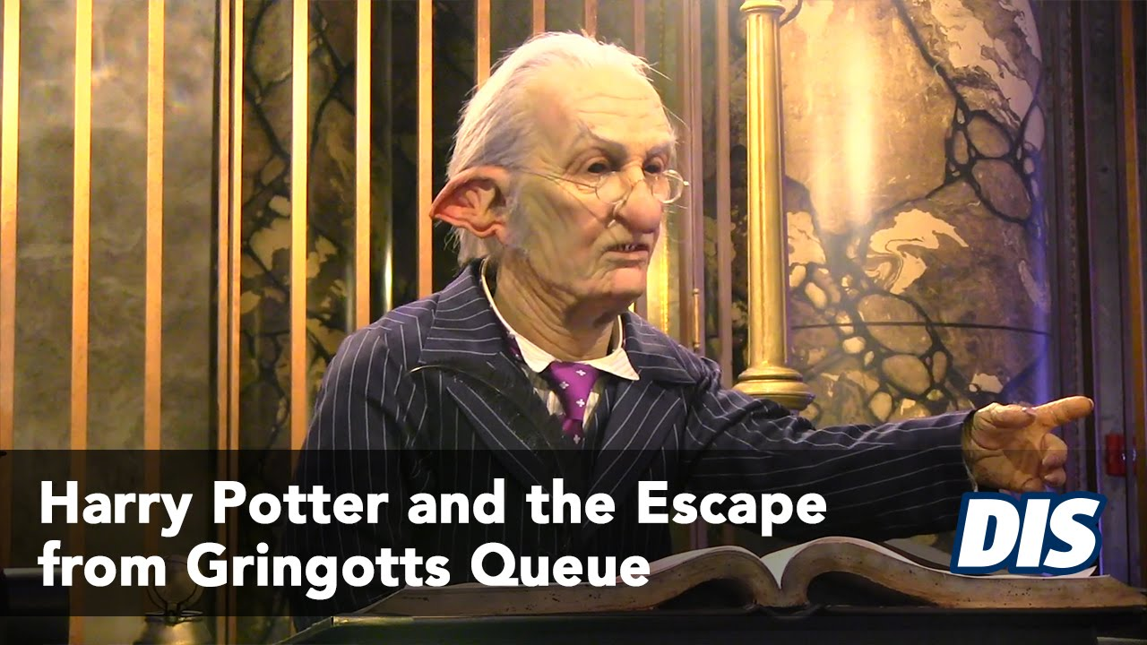 Harry Potter And The Escape From Gringotts Queue And