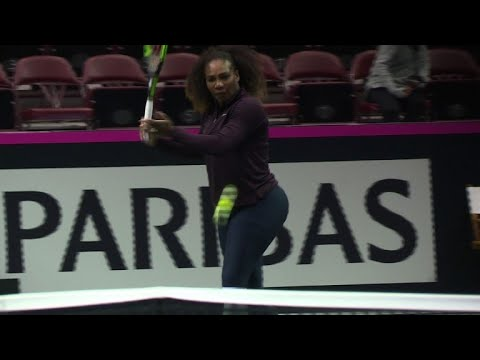 Tennis ace Serena ready for comeback at the Fed Cup