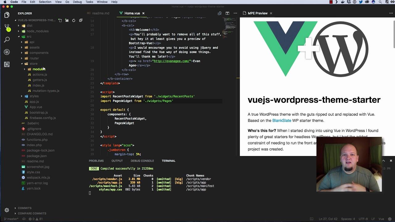 Vuejs Wordpress Theme Starter - Getting Started