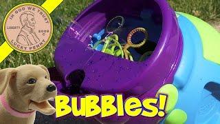 Crayola Outdoor Colored Bubbles Machine!
