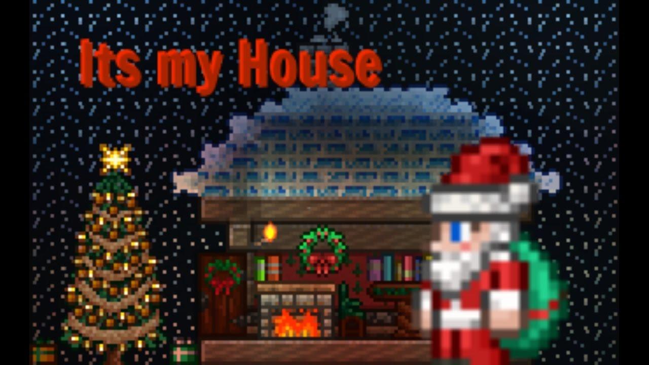 Terraria Christmas House.Terraria How To Build Santas House T 1080p60