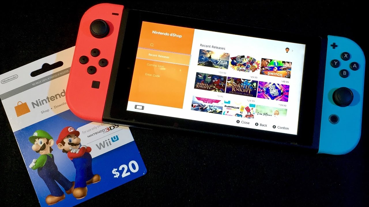 eShop Card On Switch & Buying A Game ASMR - YouTube