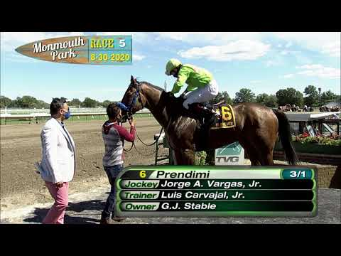 video thumbnail for MONMOUTH PARK 08-30-20 RACE 5 – CHARLES HESSE III HANDICAP