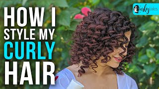 How To Style Curly Hair At Home | Kamiya Jani | Curly Tales