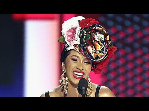 Cardi B Dedicates 2018 AMA Award to Daughter Kulture With ADORABLE Speech