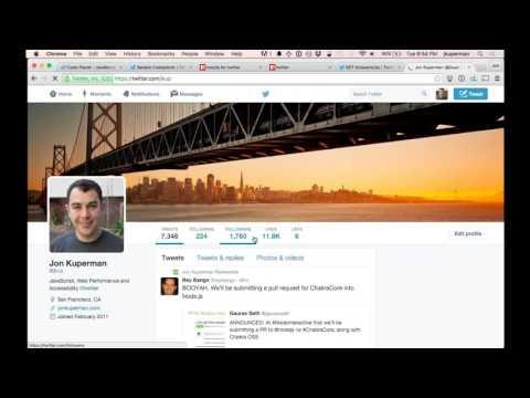 Building a Twitter app with Node.js Part 1