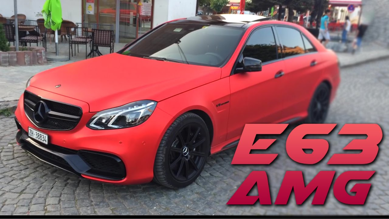 Epic Mercedes E63 Amg Red Matte And Mercedes Cls Amg