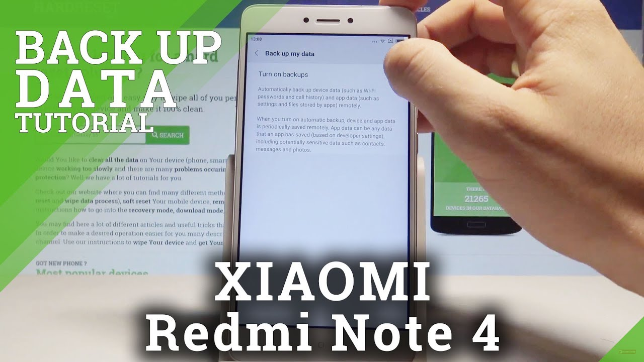 How to Back Up Data on XIAOMI Redmi Note 4 - Allow Google Backup  |HardReset Info