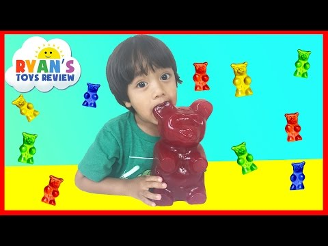Thumbnail: World's Largest Gummy Bear Challenge Ryan ToysReview