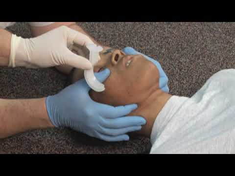 9 Oropharyngeal Airway   Tongue Jaw Lift Inserion Method