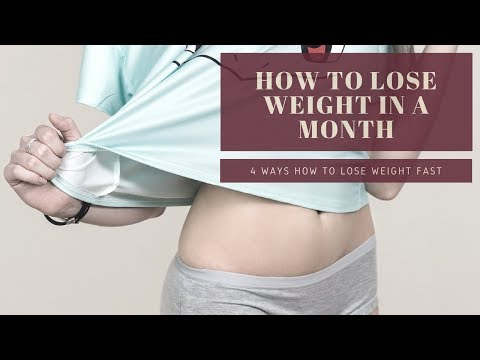 4 Ways How To Lose Weight In a Month 10 Pounds | Weight loss tips | Health Domain 2018