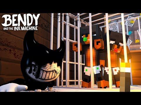 Minecraft BENDY AND THE INK MACHINE - BENDY HAS CAPTURED DONUT & BABY MAX IN HIS INK FACTORY!!
