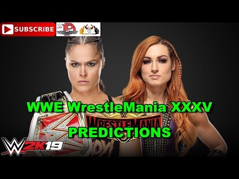WWE WrestleMania 35  RAW Women's Championship Ronda Rousey Vs  Becky Lynch Predictions WWE 2K19