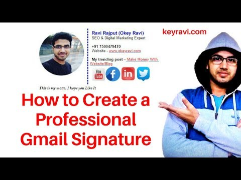 How to Create Professional Gmail Signature | Auto text & Image below MAIL| Okey Ravi