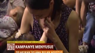 Ikuti Aksi Kampanye Menyusui, Ribuan Ibu di Filipina Tak Malu Menyusui Bayi di Muka Umum - BIP 07/08
